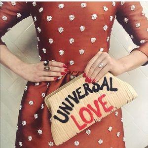 "Sarah's bag ""universal love"" clutch"